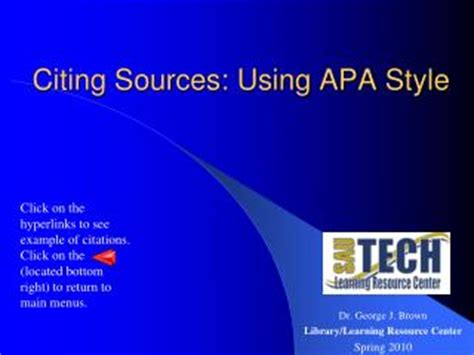 Table of contents in apa research paper